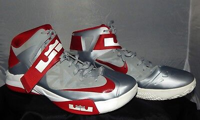 size 40 81847 a90c2 Nike Zoom Soldier Iv Lebron James Men s Gray red Shoes Size 18  525017003  2012