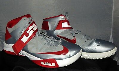 size 40 84850 c4158 Nike Zoom Soldier Iv Lebron James Men s Gray red Shoes Size 18  525017003  2012