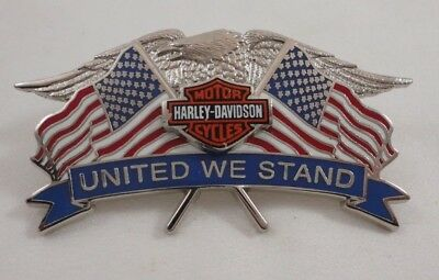 Harley Davidson 2008 Motorcycle United We Stand Flags Patriotic Lapel Pin