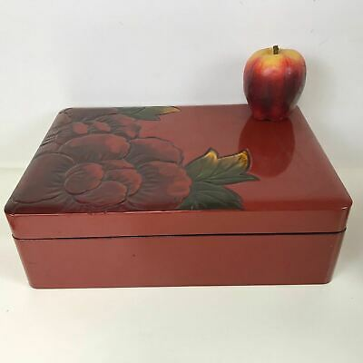 Large Japanese Lacquer Wooden Ware box