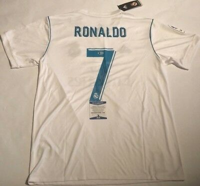Cristiano Ronaldo Autographed Real Madrid On Field Jersey Beckett Witnessed  COA 64bd419c3