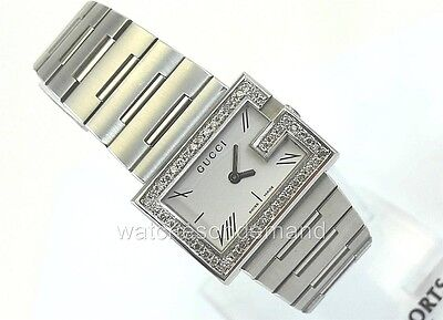 bb540f87e1f NEW LADIES GUCCI 100 L G Ya100506 Silver Dial 0.75Ct Approximately Diamond  Watch -  840.00