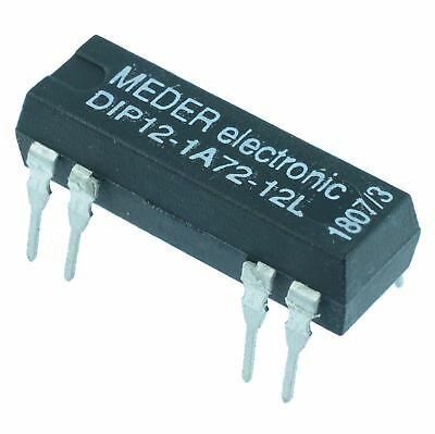 12VDC Normally Open Reed Relay SPST DIP12-1A72-12L