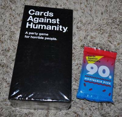 NIB-Cards Against Humanity Base Edition Party Game Plus The 90's Nostalgia Pack