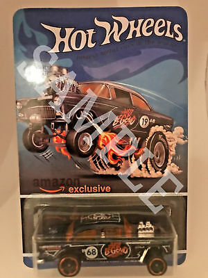 Hot Wheels Amazon Exclusive 55 Chevy Bel Air Gasser Custom Card