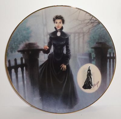 "Bradford Exchange Gone with the Wind Plate ""The Mourning Gown"" 1994"