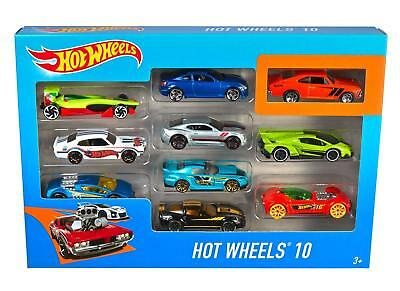 Hot Wheels 10 Car Collection Pack Racing 1:64 Scale - Styles May Vary