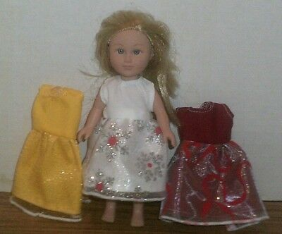 "6-7"" Doll Clothes-fit Mini American Girl My Life-Lot of 3 Dresses-SPECIAL"