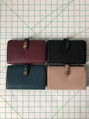 84adb3e111dfd0 Michael Kors Adele Slim Bifold Leather Wallet Card Holder in Various Volors