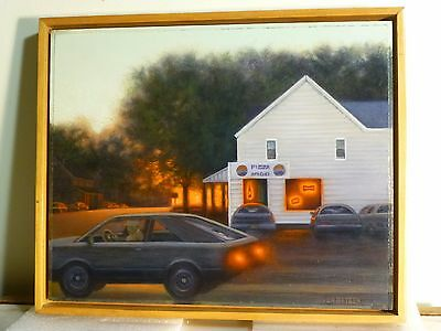 VALERIE VON BETZEN VINTAGE MODERNIST OIL PAINTING MCM LISTED Bucks County
