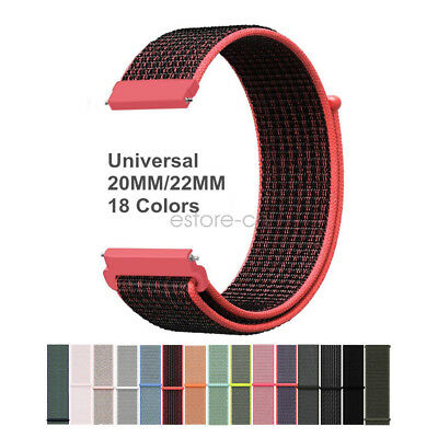 Woven Nylon Sport Loop Wrist Watch Band Strap 20mm 22mm Watch Lug WatchBand