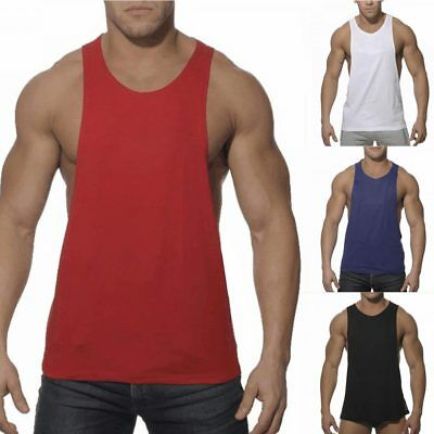 Men's Bodybuilding Tank Top Muscle T-Shirt Gym Fitness Stringer Sports Singlets