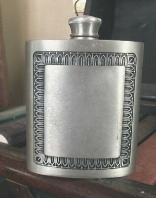 Vintage Selwin Pewter Hip Flask - EUC - UNENGRAVED