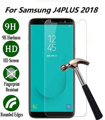 For Samsung Galaxy J4 Plus 2018 Tempered Glass Screen Protector Film Guard