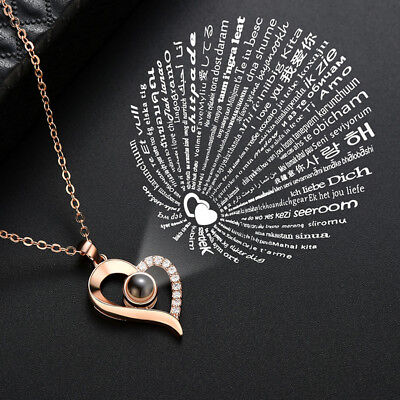 100 Languages I Love You Necklace Memory of Love Valentine's Day Couples Gift