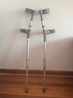 Coopers elbow crutches with arthritic hand grips