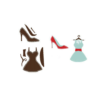 Fashion Woman Clothing Shoes Metal Cutting dies Scrapbooking Paper card Stencils