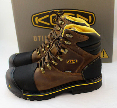 "New KEEN Size 11.5 D Utility MILWAUKEE Steel Toe Men's 6"" Work Boots RETAIL $160"