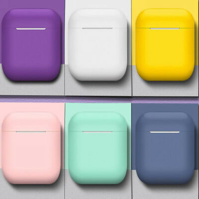 Soft AirPods Silicone Case Cover Protective Skin for Apple Airpod Charging Case