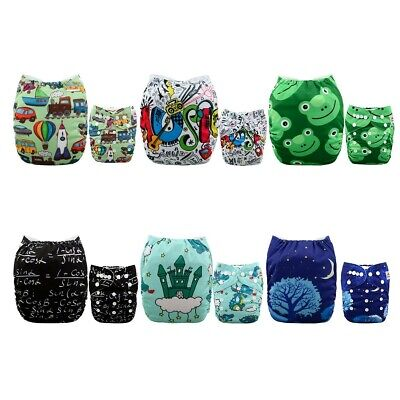 ALVABABY Pocket Cloth Diapers Reusable Washable Adjustable for Baby