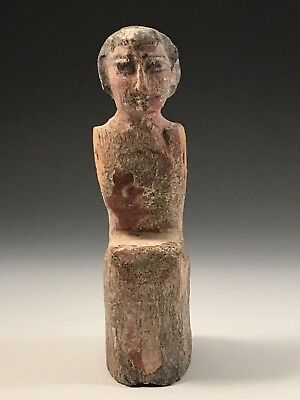 ANCIENT EGYPTIAN WOODEN BOATMAN; 2010-1793 B.C. 11th-12thTH DYNASTY, NICE PIECE!