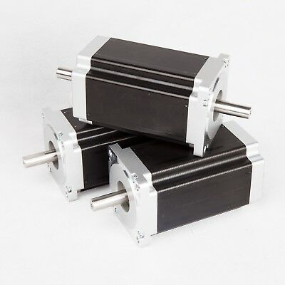 3PCS CNC NEMA34 Stepper Motor 1600 oz.in 3.5A Dual bipolar CNC Fast shipping
