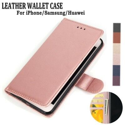 Retro PU Leather Card Solts Stand Wallet Lanyard Case Cover For Huawei P20 P30