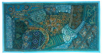 """Home Decor Ethnic Wall Hanging Indian Vintage Handmade Mat Tapestry 20X40"""" ##00D"""