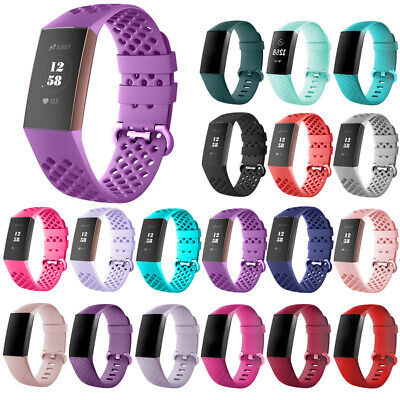 For Fitbit Charge 3 Watch Band Replacement Breathable Porous Wrist Bracelet