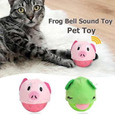 Plastic Cloth Pig Frog Bell Sound Toy Pet Cat Dog Ball Interactive Playing Toys
