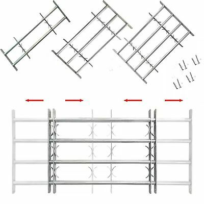 Adjustable Security Grille for Windows with 2/3/4 Solid Crossbars Protector Safe
