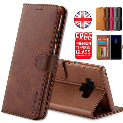 For Samsung Galaxy S9 Note9 Luxury Leather Magnetic Flip Wallet Case Cover Stand