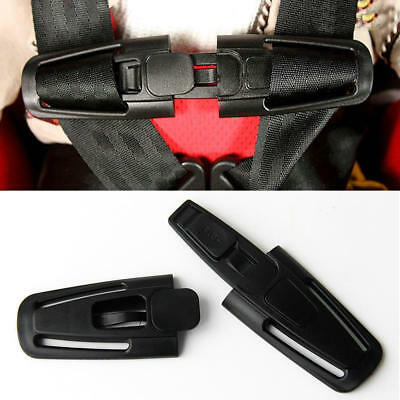 Baby Car Safe Buckle Safety Seat Strap Children Toddler Chest Harness Clip Black