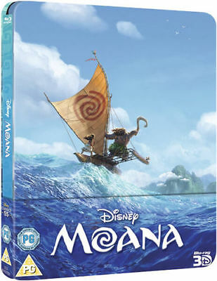 Disney Moana 3D Ltd Ed Steelbook Blu-ray Sealed UK Seller FREE P&P Worldwide