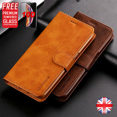 Magnetic Luxury Leather Folio Flip Wallet Case Cover Stand For Apple iPhone UK