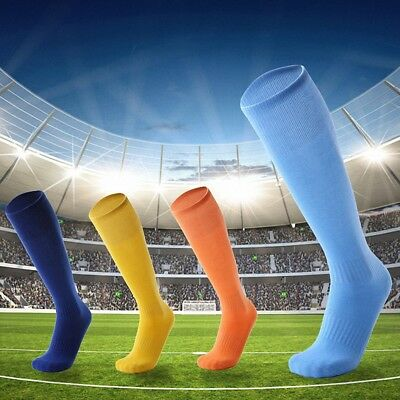 Mens Women Sport Football Soccer Long Socks Knee Color High Sock Baseball Hockey