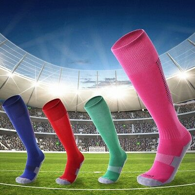 Mens Kids Football Soccer Long Socks Knee Sports Anti-Slip Sock Baseball Hockey