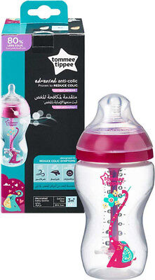Tommee Tippee Advanced Comfort Anti Colic baby Feeding Bottle 260ml Heat Sensing