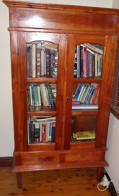 Book Shelf cabinet unit wood 3 shelves/2 doors  FREE LOCAL DELIVERY NSW 2131