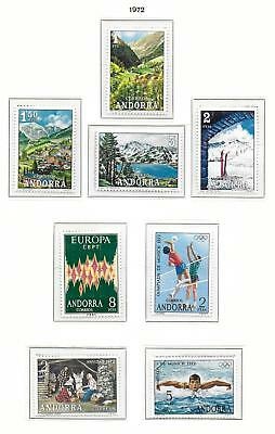 Spanish Andorra stamps 1972 Collection of 8 stamps MNH VF United Europe stamp!