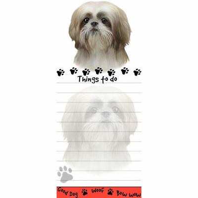 Shih Tzu Tan Puppy Magnetic Sticky Dog Breed Stationery Notepad