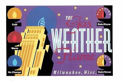 THE GAS WEATHER FLAME MILWAUKEE, WISC 1989 (unposted) Artist John T. McCarthy Jr