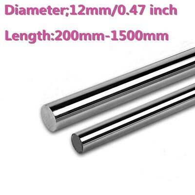 12mm Dia Hardened Steel Shaft Linear Bearing Rod Rail Optical Axis L200-1500mm