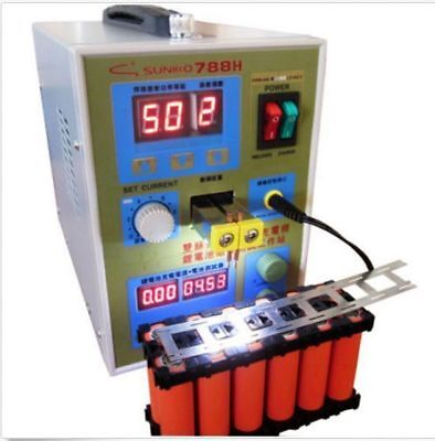 Latest 788H with LED Dual Pulse Spot Welder Battery Charger 36v 0.1~0.25mm 800A