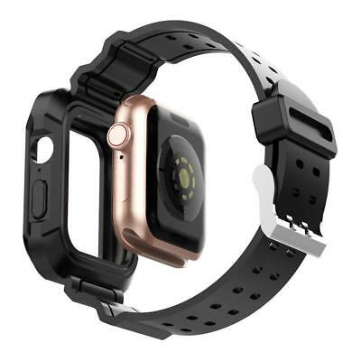 Firm TPU Sport Band Strap Replacement Bumper Case for Apple Watch iwatch 38-44