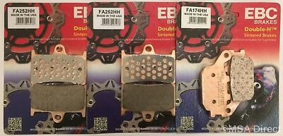Yamaha MT07 (2014 to 2018) EBC Sintered FRONT and REAR Disc Brake Pads (3 Sets)