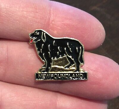 New Newfoundland Newfy Working Dog Newfie Pin Lapel Brooch Dog Vest Hat Mastiff