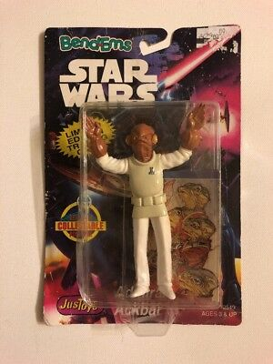 """STAR WARS Bend-ems Action Figure 4.5""""in Admiral Ackbar  w/Trading Card 1994"""