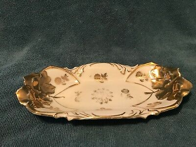 Vintage IPF Germany Porcelain Celery Relish Pickle Dish. White/Gold