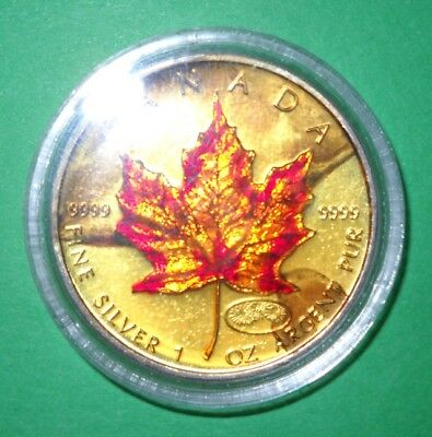 1999 / 2000 Canadian $5 Maple Leaf Millennium Privy 1 oz .9999 Silver Coin